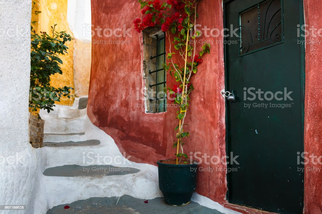 Plaka, the old town of Athens. stock photo