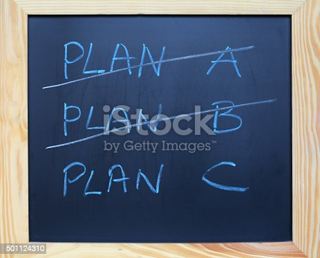istock Plan A and B or C 501124310