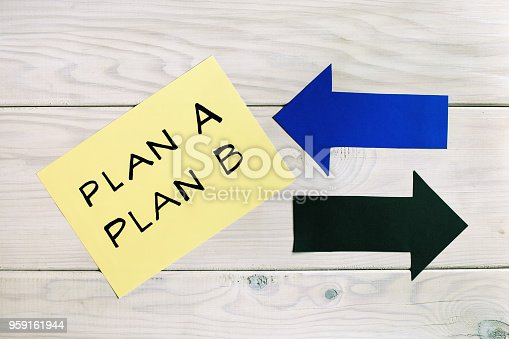 istock Plan A and plan B,back -up plan concept 959161944