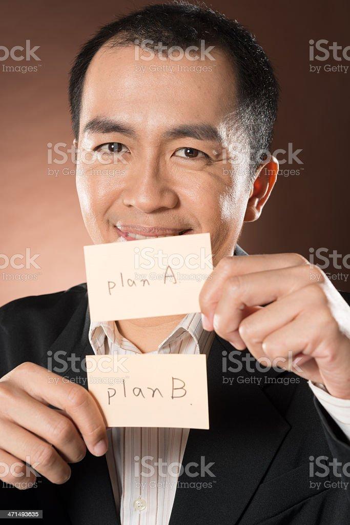 plan A andB royalty-free stock photo