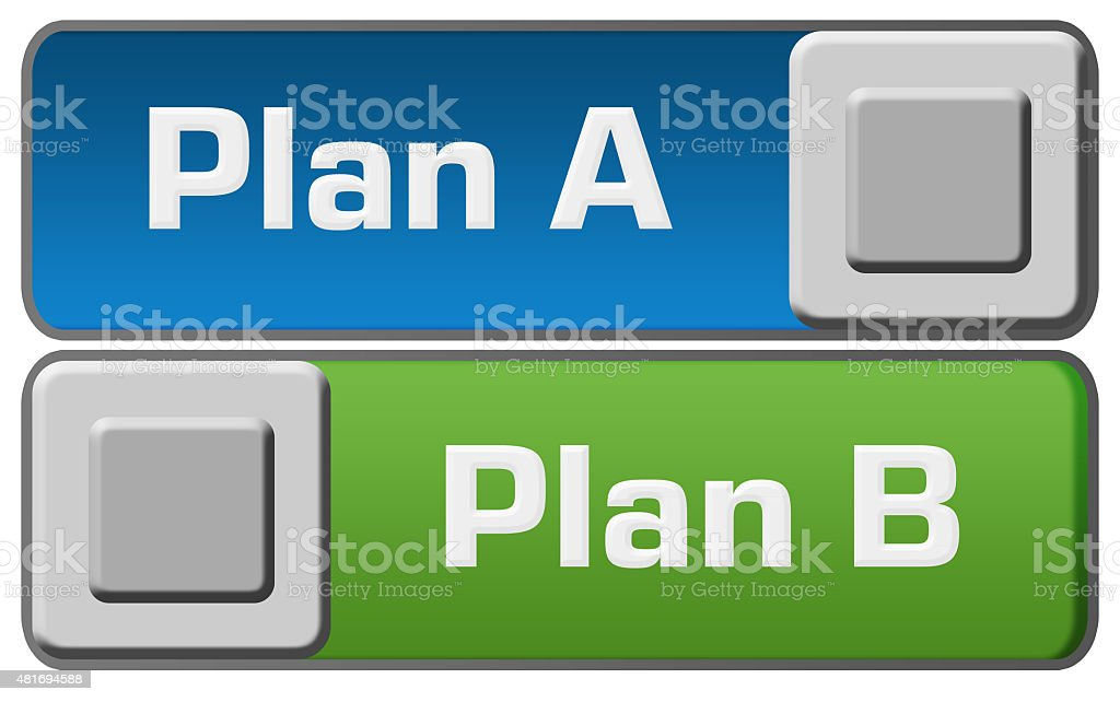 Plan A B Blue Green Switches stock photo