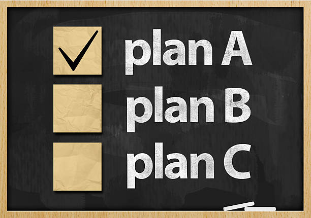 Plan A / Blackboard concept (Click for more) stock photo