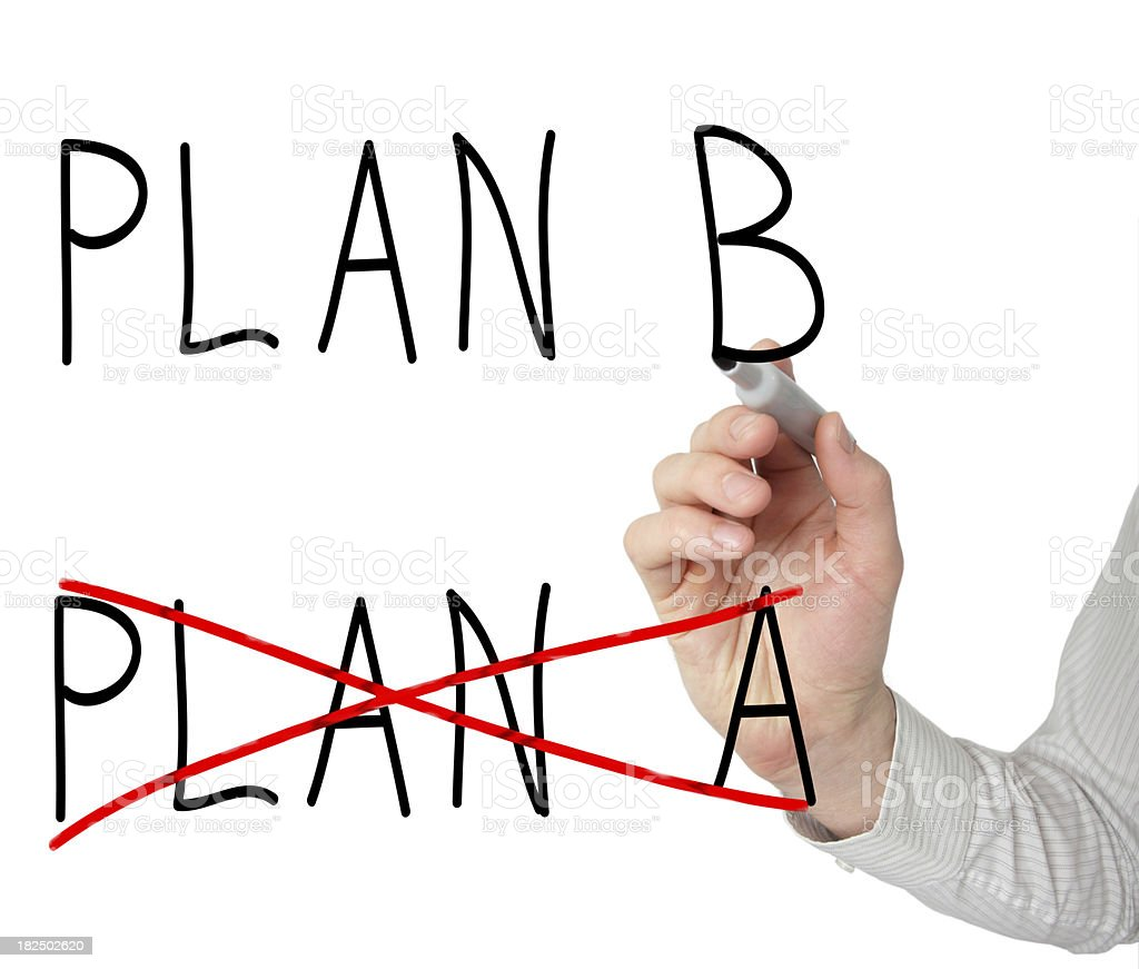 Plan A crossed, another take over royalty-free stock photo