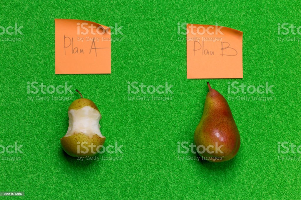 plan A or B stock photo
