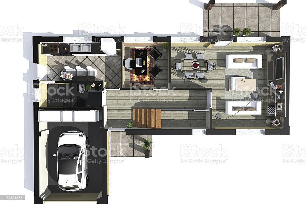 plan axonometric stock photo