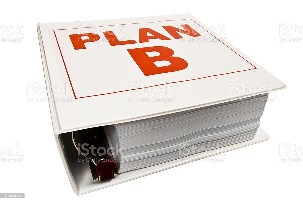 Plan B 3-Ring Binder royalty-free stock photo