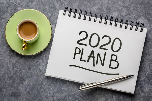 2020 plan B - change of business and personal plans stock photo