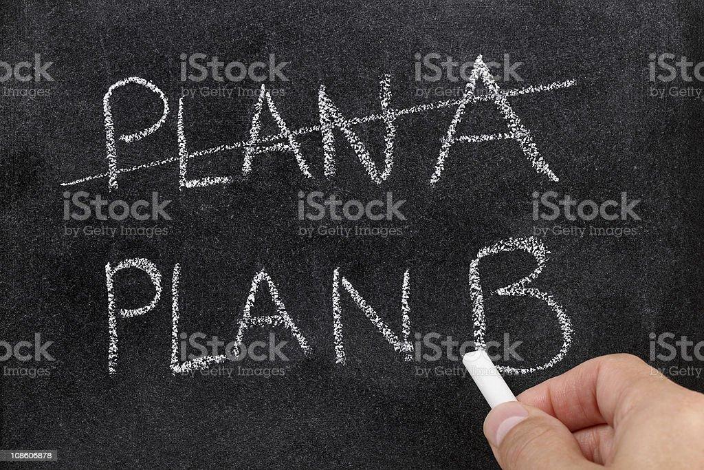 Plan B royalty-free stock photo