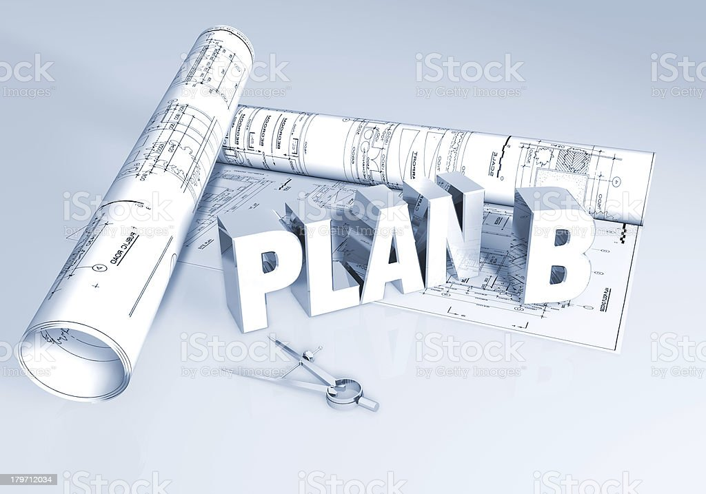 Plan B royalty-free stock photo
