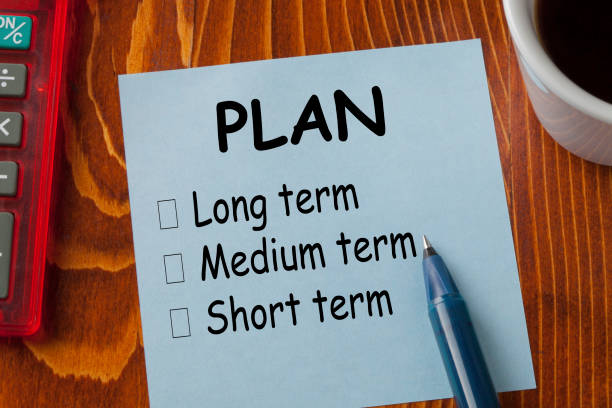 Plan classification by time stock photo