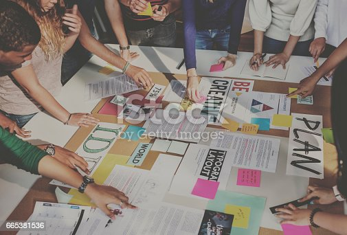 istock Plan Creative Class Library Student Teacher Ideas Concept 665381536