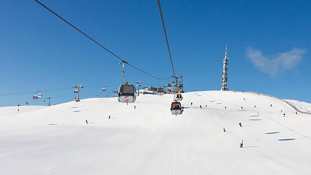 Plan de Corones Ski Resort stock photo