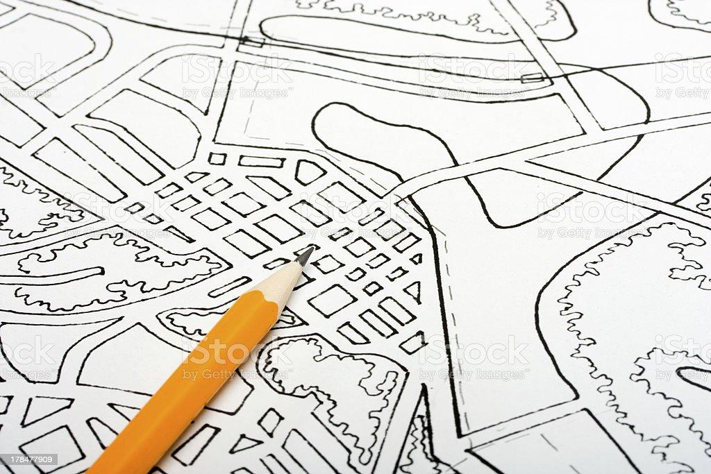 Plan drawing royalty-free stock photo