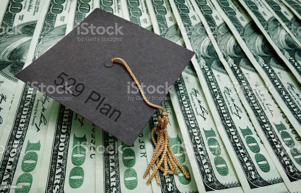 529 plan education money stock photo