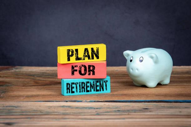 Plan für den Ruhestand. Versicherungen, Leistungen am Arbeitsplatz, Gesundheits- und Geschäftskonzept – Foto