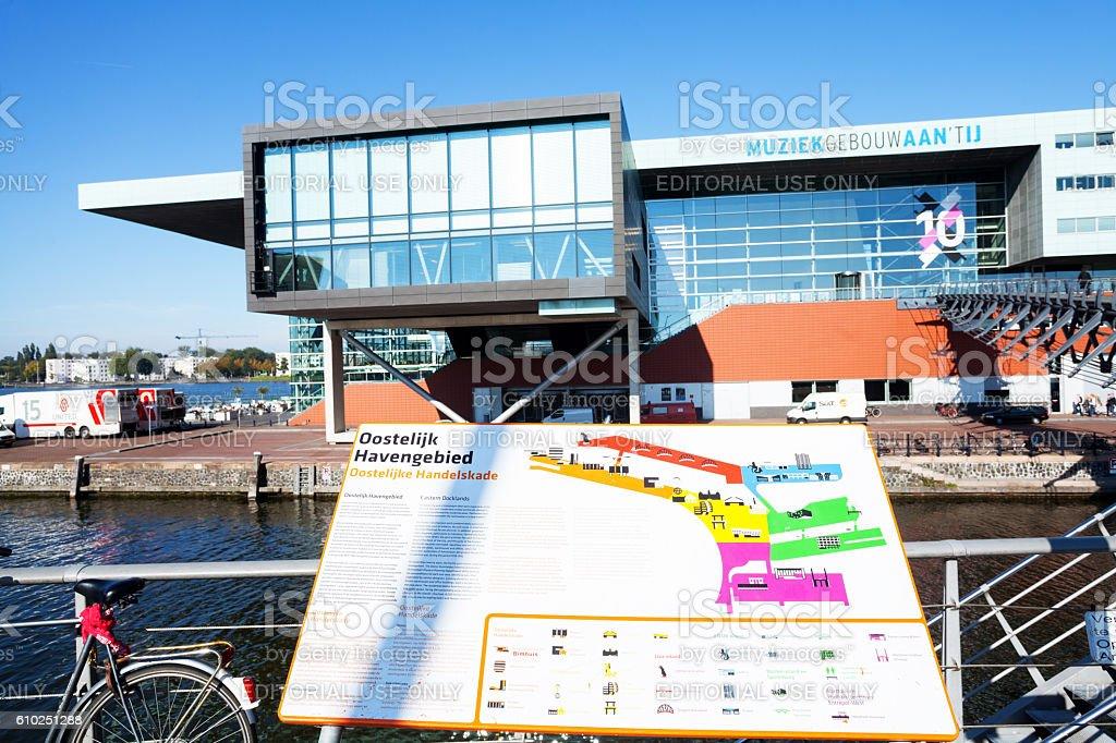 Plan of harbor area and Bim Huis in Amsterda, - foto de stock