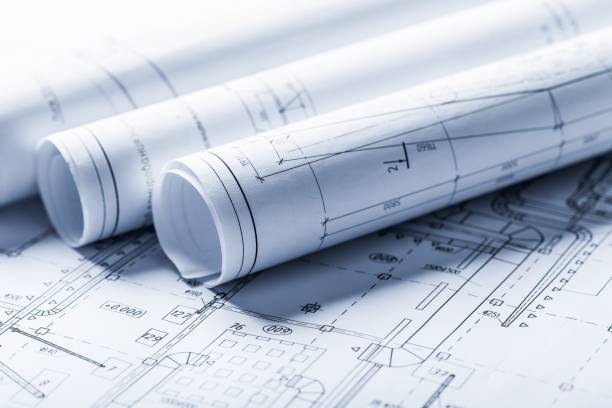 Plan. Plan architect real blueprint home design floor design occupation stock pictures, royalty-free photos & images