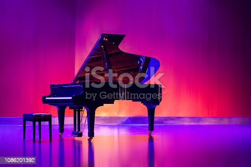 The pianos on the stage