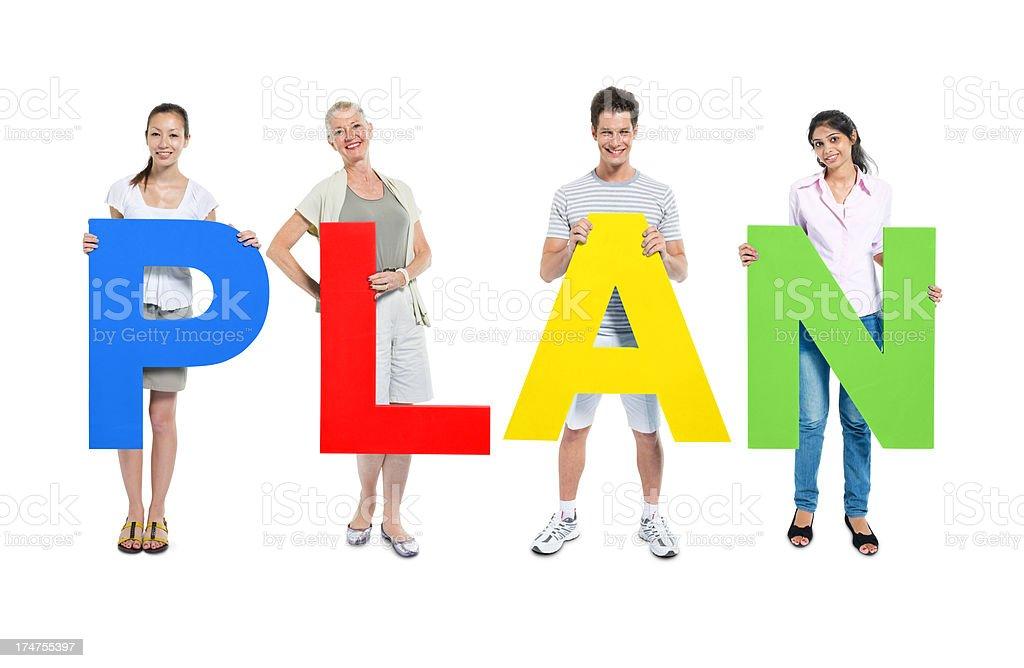 Plan  Active Seniors Stock Photo