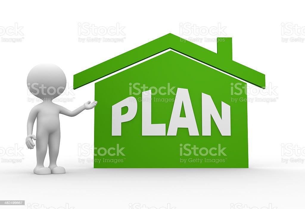 Plan royalty-free stock photo