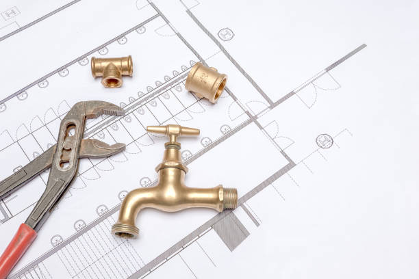 Plan-Klempner und Schraubenschlüssel – Foto