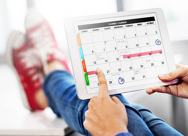 Plan Schedule Planning Planner Relax Concept stock photo