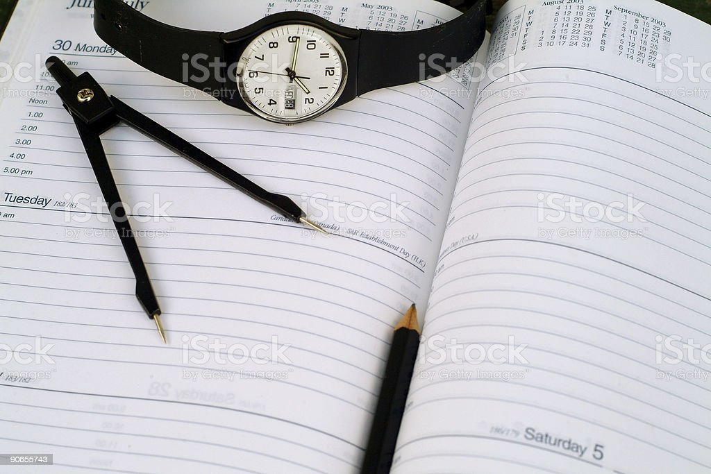 Plan your time royalty-free stock photo