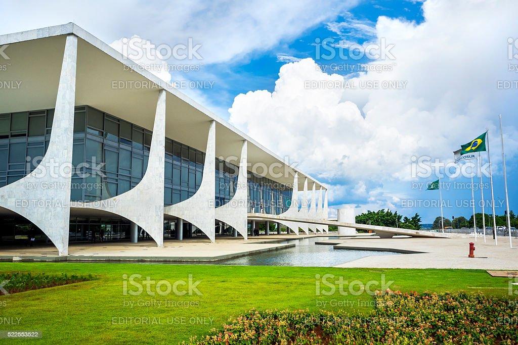 Planalto Palace in Brasilia, Capital of Brazil stock photo