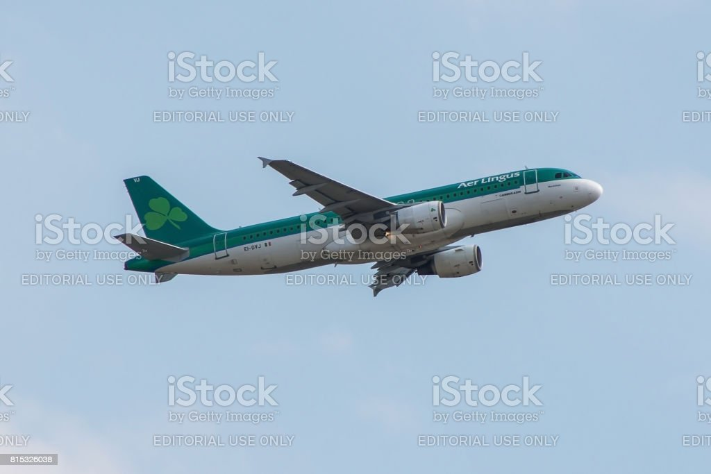Plane Aer lingus Airlines stock photo
