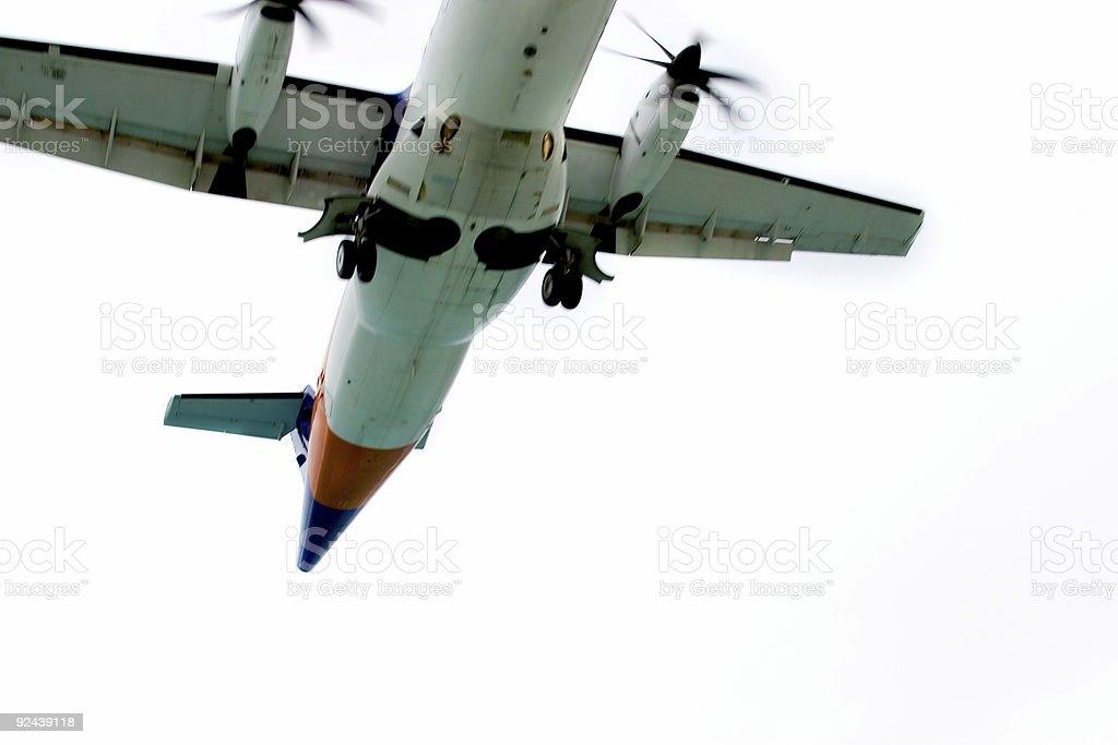 Plane Approaching royalty-free stock photo