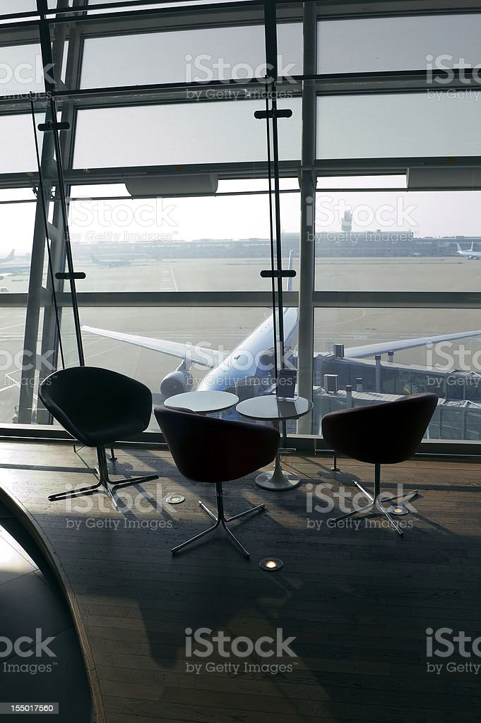 Plane at Airport royalty-free stock photo