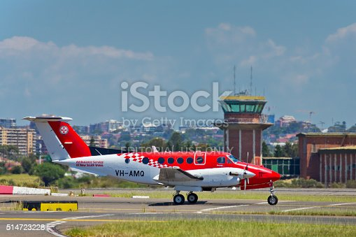 istock Plane belonging to the Flying Doctor service at Sydney Airport 514723228