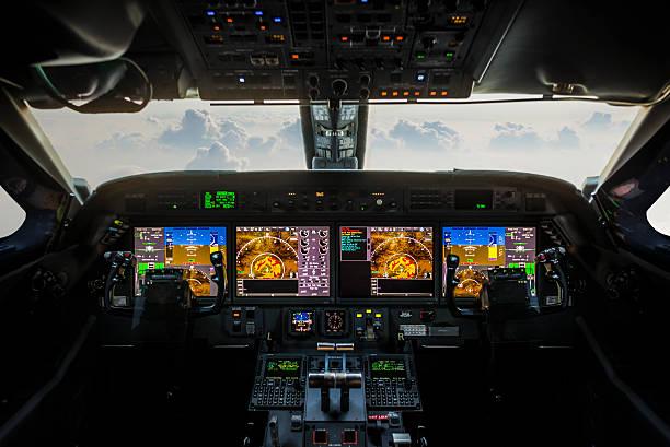 plane cockpit - cockpit stock photos and pictures