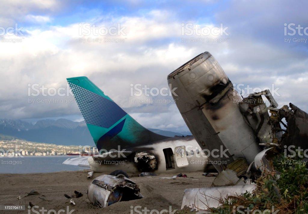 Plane crash 4 stock photo