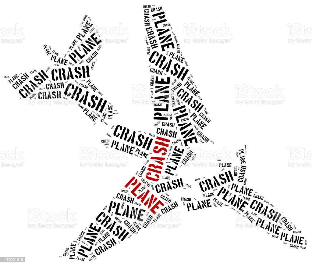 Plane Crash Or Air Crash Word Cloud Illustration Stock Photo & More ...