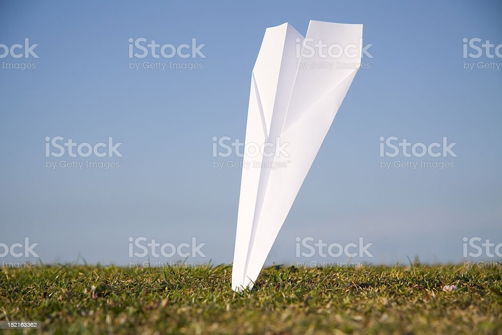 Plane crash royalty-free stock photo