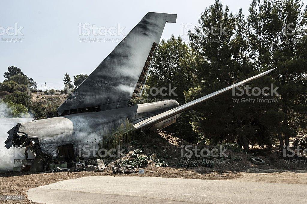 Plane crash stock photo