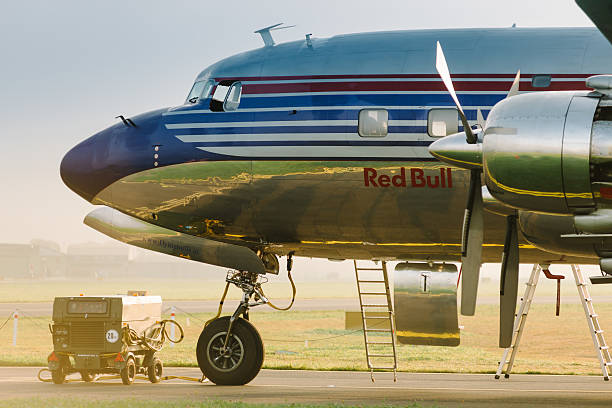 Plane DOUGLAS DC-6B Red Bull stock photo 70082275f60