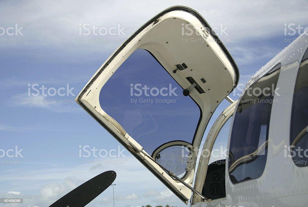 plane exit strategy stock photo