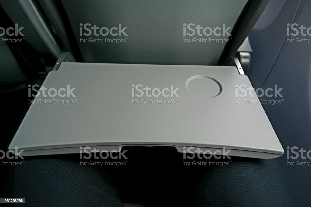 Plane Food Table stock photo