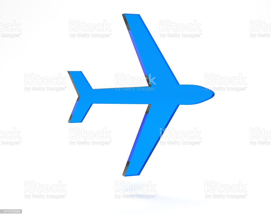 plane icon stock photo