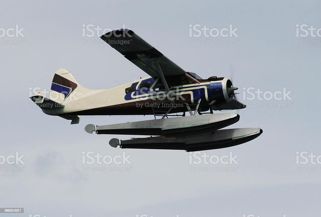 Plane in flight royalty-free stock photo