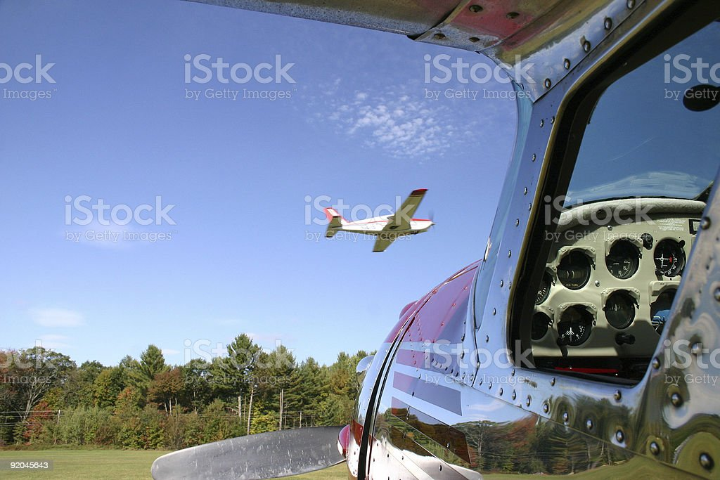 Plane in Passing royalty-free stock photo