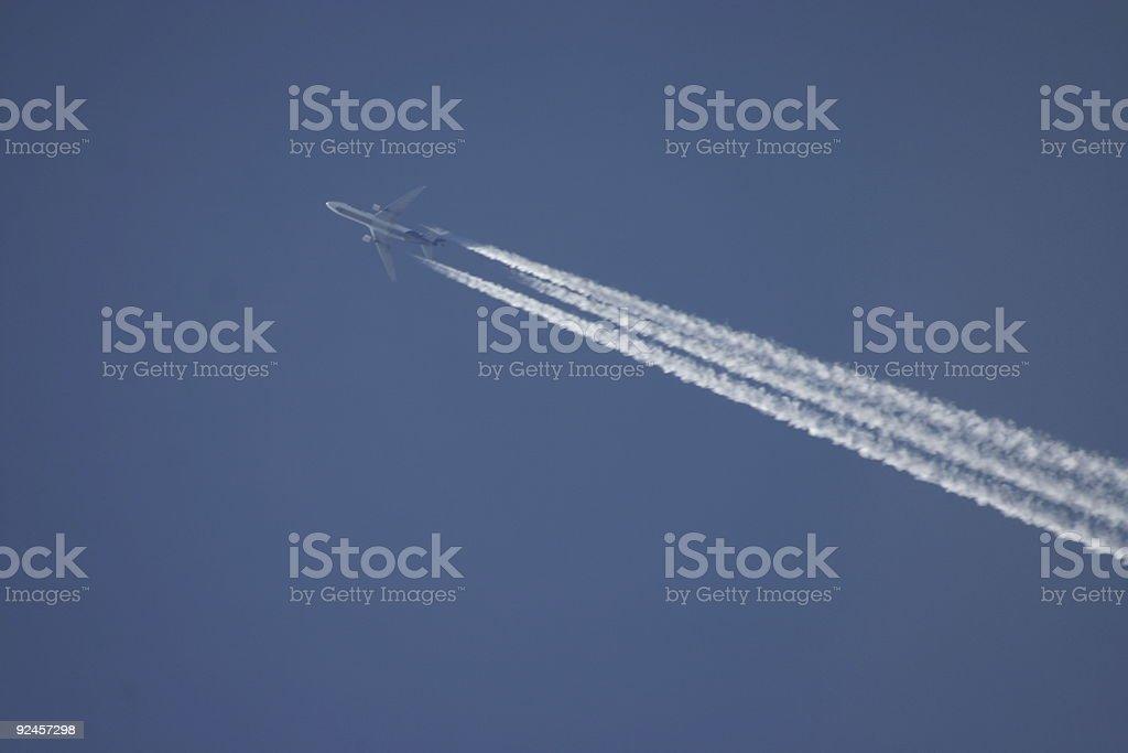 Plane in the sky stock photo