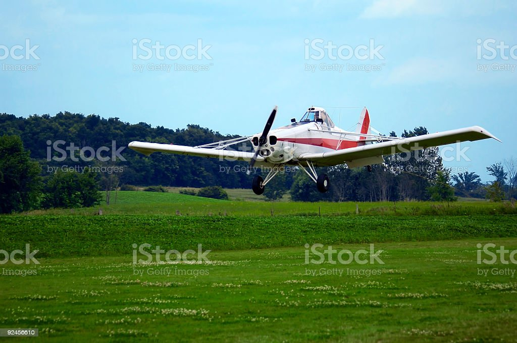 Plane Landing royalty-free stock photo