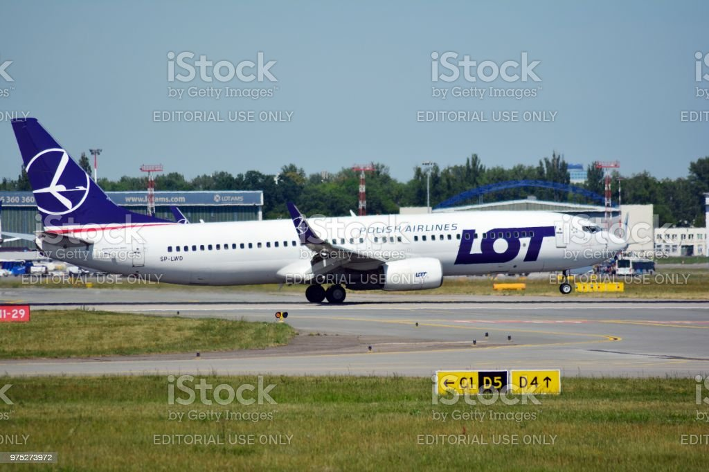 Plane LOT - Polish Airlines Boeing 737-89P stock photo
