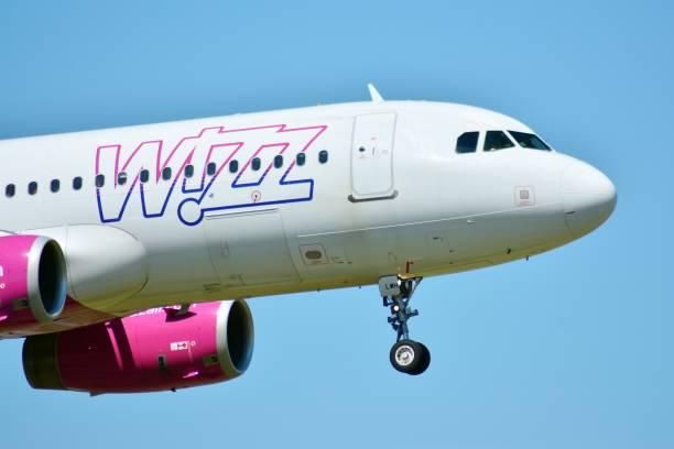 Plane HA-LWH - Airbus A320-232 - Wizz Air stock photo