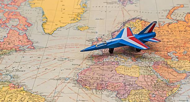 Flugzeug-Karte – Foto
