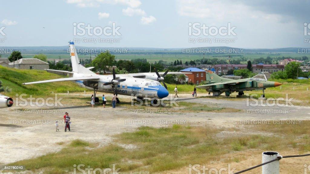 Plane military stock photo