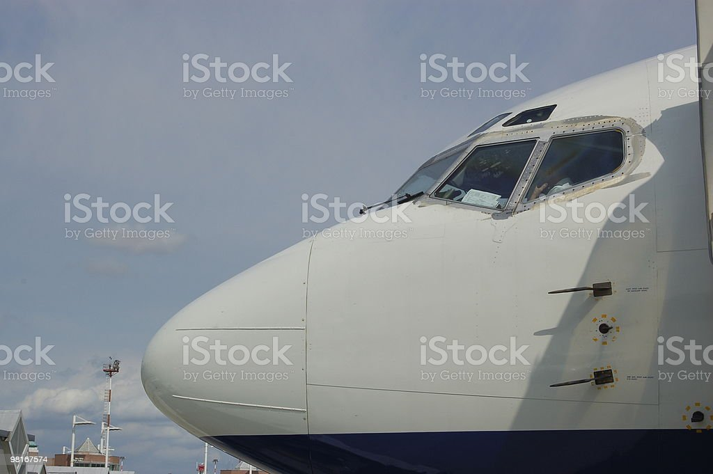 Plane nose cone royalty-free stock photo